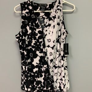 NWT Women's Dressy Tank Top Black and White M